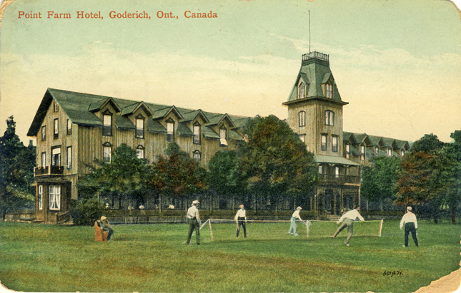 point farm hotel goderich D Stewart postcards coll.