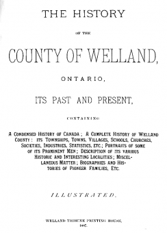 county of welland title page