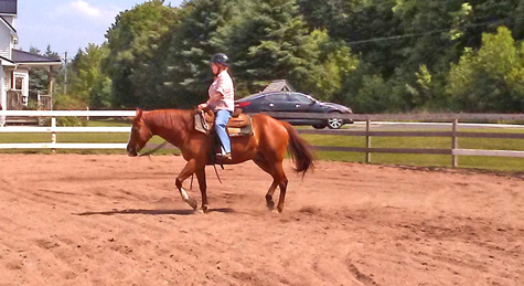 jamie and me in outdoor ring