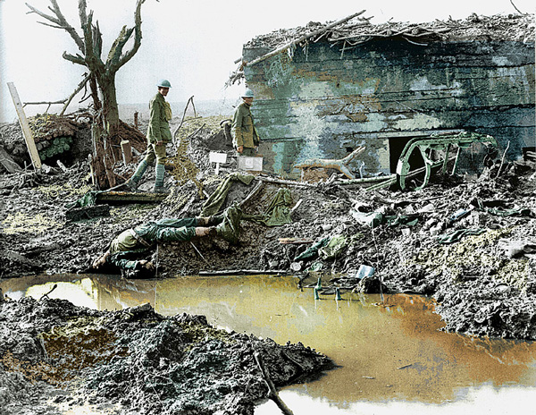 Second Battle of Passchendaele Cdns-survey-German-Bunker_public-domain-in-Bostyn-and-Van-Der-Fraeden