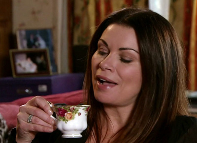 carla with cup of tea