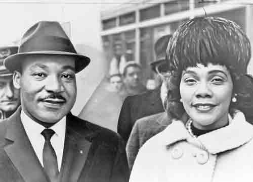 Martin Luther King with wife Coretta Scott King 1964 wikicommons