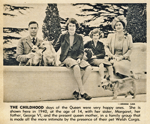 Royals and Corgis 1940 Star Weekly May 30 1953