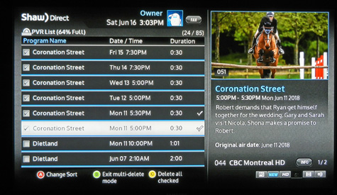 pvr-screen with watched corrie episodes checked