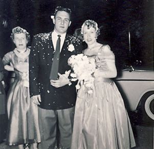 David and Kitty McAllister 1956 wedding