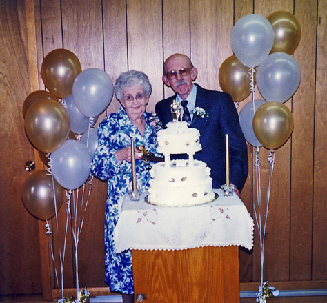 madge and wilford burwell 50th 1995
