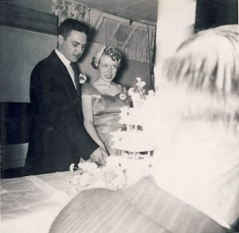 McAllister wedding cake 1956