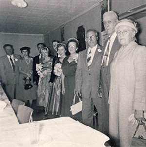 McAllister wedding reception line 20 Oct 1956