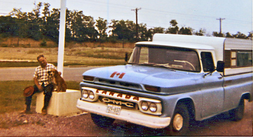 dad with dog and truck-1971 photo r anger
