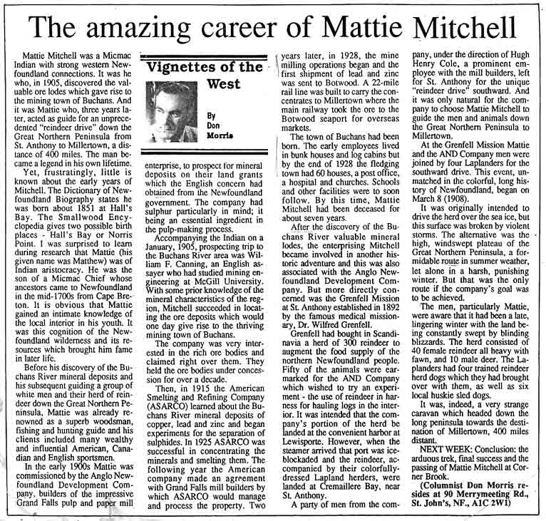 morris-pt-1-mattie-mitchell article western star 1992