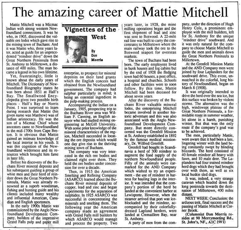 morris-pt-1-mattie-mitchell article western star 1992