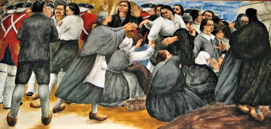 journey - The_Acadians_mural_panel_4_Sylvia_Lefkovitz michelle-macneill-wikicommons