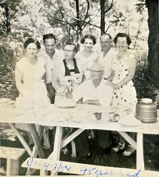 murel (mabee) and austin anger and family 1958
