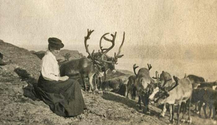 woman-with-reindeer-Nfld-kew-gardens-KPPCONT_085040
