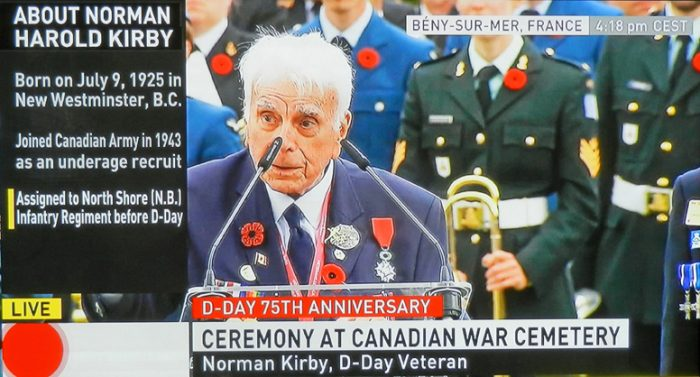 D-Day 75th-CBC-News-Network-Beny-sur-mer-norman-kirby