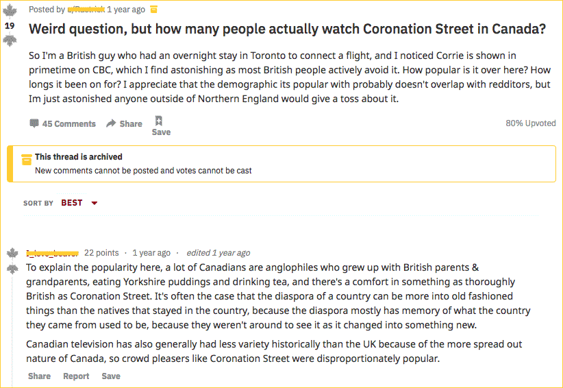 why watch in Canada Reddit question
