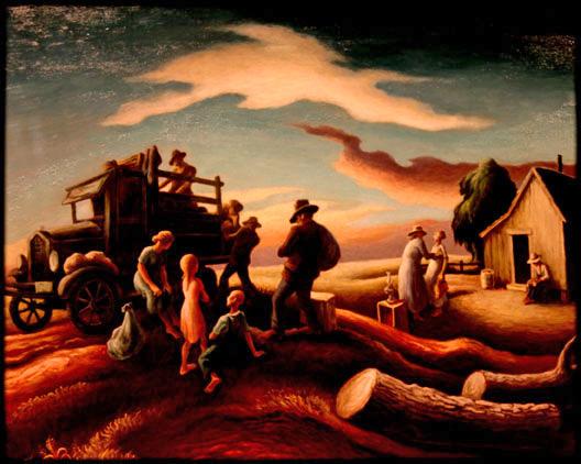 Benton-Departure-ptg-1940-rockwell-center