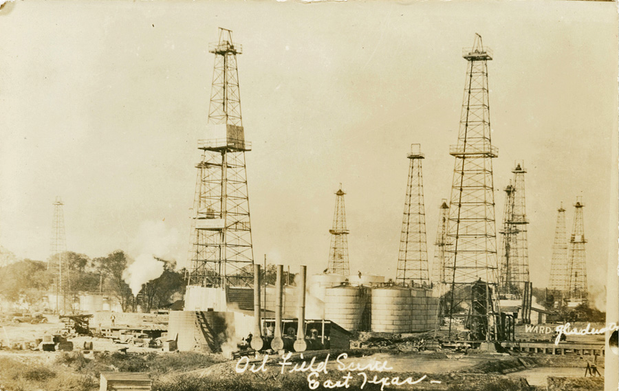 Oil_Field_Scene_East_Texas-1930s-Ward-SMU-DeGolyer-Lib-wikicommons