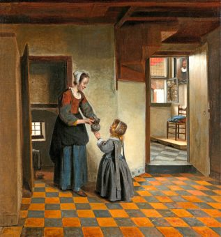 Pieter_de_Hooch_007-woman-with-a-child-in-a-pantry-ca-1658-rijksmuseum-wikicommons