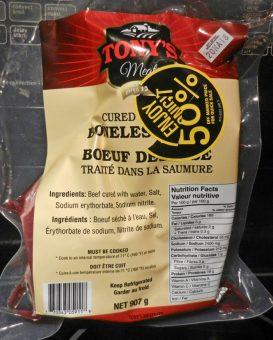 beef in brine package photo d stewart