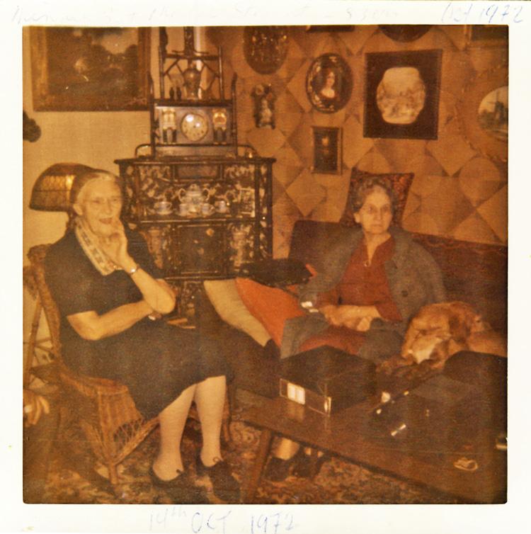 Minnie Burwell and Mabel Stewart 1972