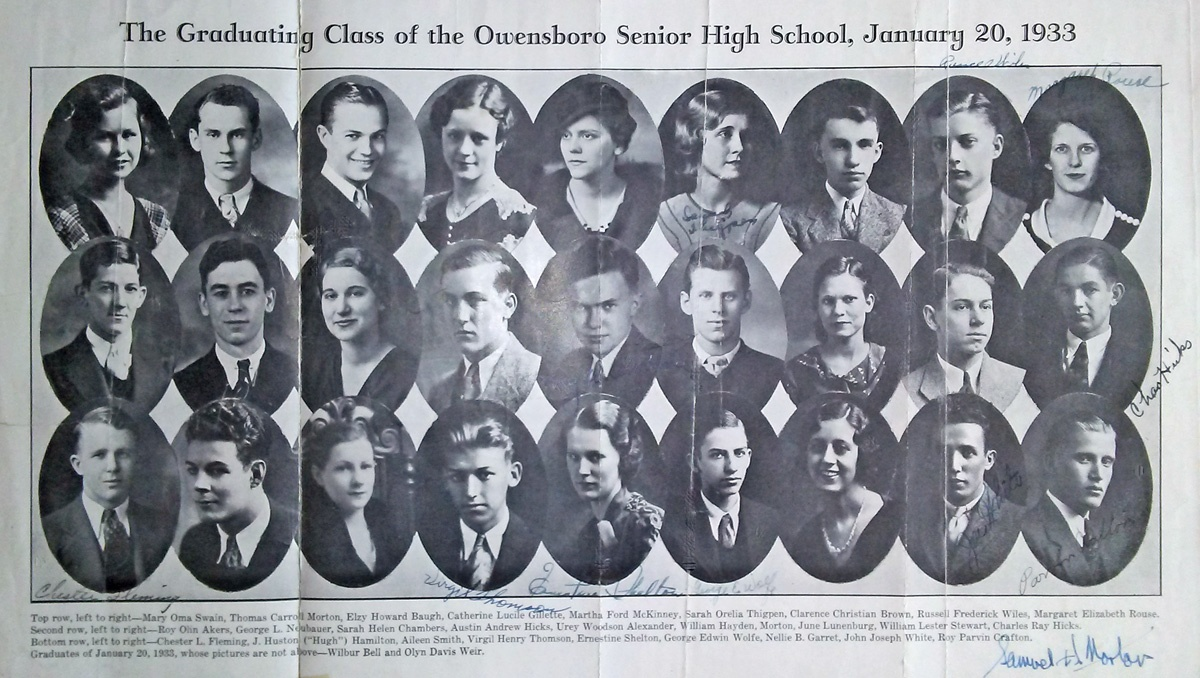 Owensboro-High-grads-1933-Bill-Stewart-pics