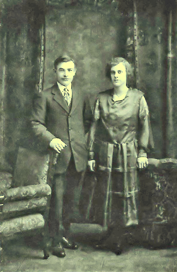 George W Mabee and Nancy Rice wedding photo