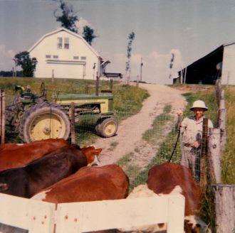 bill-with-cattle-sep-1966 photo M Stewart