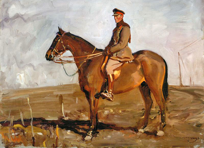 Warrior and Seely painting by Munnings Canadian War Museum
