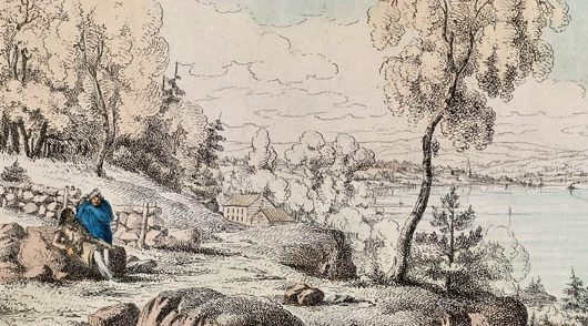 Robert-Petley-Fredericton-from-the-Oromocto-Road-1837-LAC